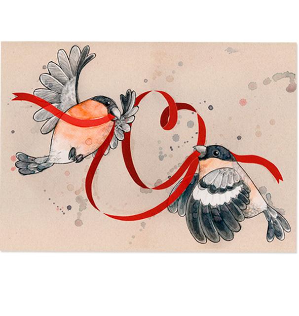 Lintujen Joulu: Sydämelliset terveiset